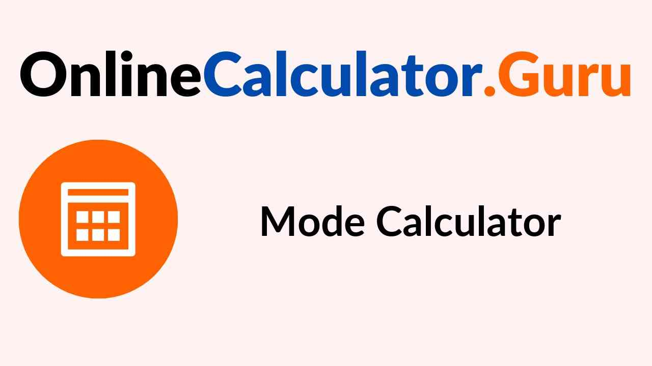 Mode Calculator