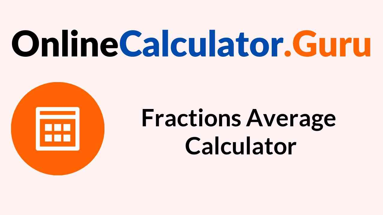 Fractions Average Calculator